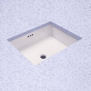 Hahn White Ceramic Small Oval Bowl Undermount Bathroom Sink