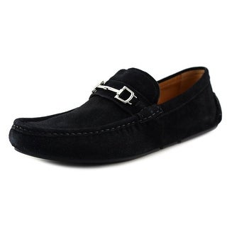 Gucci Queen Men Moc Toe Suede Black Loafer