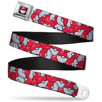 Pok Ball Full Color Black The Pok Ball Stacked Red White Webbing Seatbelt Seatbelt Belt