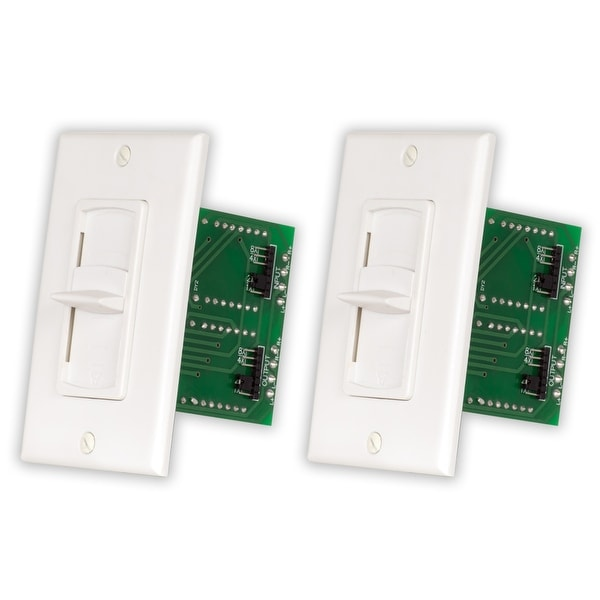 Acoustic Audio AAVCSW White Slide Speaker Volume Controls 2 Piece Set AAVCSW-2S
