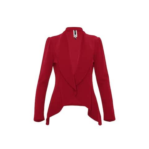 Women's Casual Long Sleeve Solid Open Blazer Jacket
