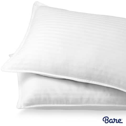Bare Home Down Alternative Pillows - Plush Fiber Fill - Hypoallergenic - White