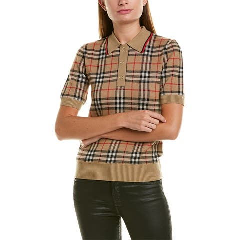 Burberry Vintage Check Wool Polo