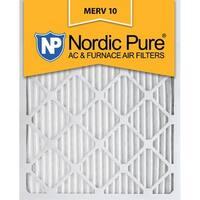 10x20x1 Pleated MERV 10 AC Furnace Air Filters Qty 3