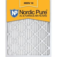Nordic Pure 20x25x1 Pleated MERV 10 AC Furnace Air Filters Qty 6