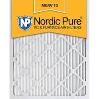 Nordic Pure 14x24x1 Pleated MERV 10 AC Furnace Air Filters Qty 3