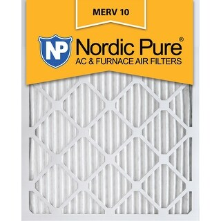Nordic Pure 16x25x1 Pleated MERV 10 AC Furnace Air Filters Qty 3