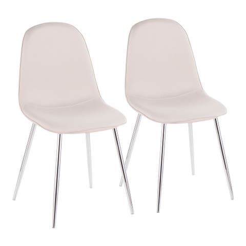 Silver Orchid Stone Chrome Dining Chair - Set of 2