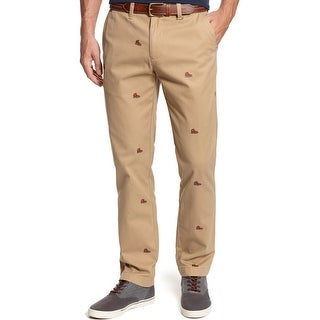 Tommy Hilfiger Mercer Custom Fit Pants 34W x 32L Cork Beige Boots All Over - 34