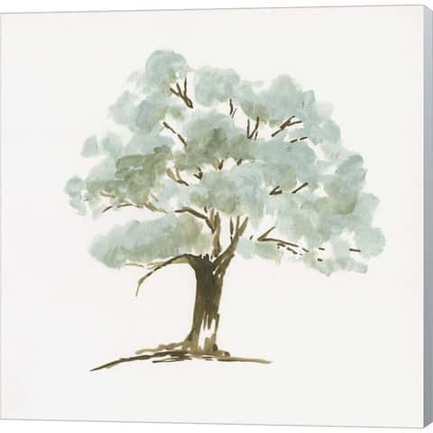 Jennifer Goldberger 'Mint Tree I' Canvas Art