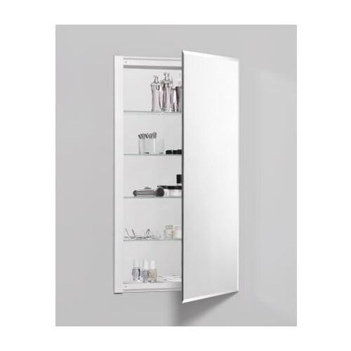 "Robern RC2036D4FB1 R3 20"" x 36"" x 4"" Beveled Single Door Medicine Cabinet with Reversible Hinge"