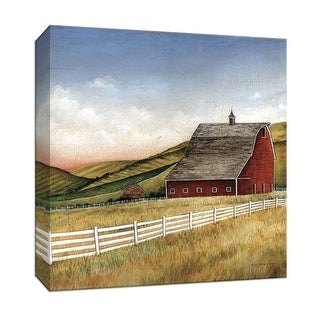 """PTM Images 9-151950  PTM Canvas Collection 12"""" x 12"""" - """"Old Red Barn"""" Giclee Barns Art Print on Canvas"""
