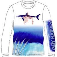 Guy Harvey Mens Mako Shark Long Sleeve Performance Shirt