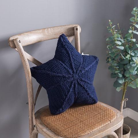 Country Living Crochet Star Throw Pillow