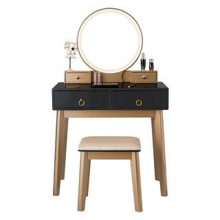Link to Vanity Makeup Dressing Table Set with Touch Screen Dimming Mirror Similar Items in Bedroom Furniture