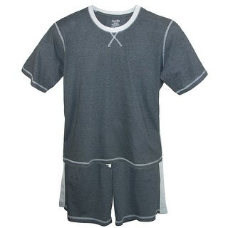 tru fit Men's Short Sleeve Tee and Shorts Pajama Set
