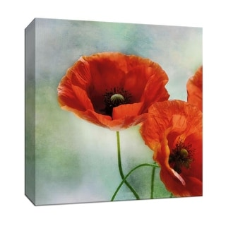 """PTM Images 9-146723  PTM Canvas Collection 12"""" x 12"""" - """"Artful Poppies II"""" Giclee Flowers Art Print on Canvas"""