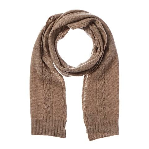 Portolano Cable Knit Cashmere Scarf - NoSize