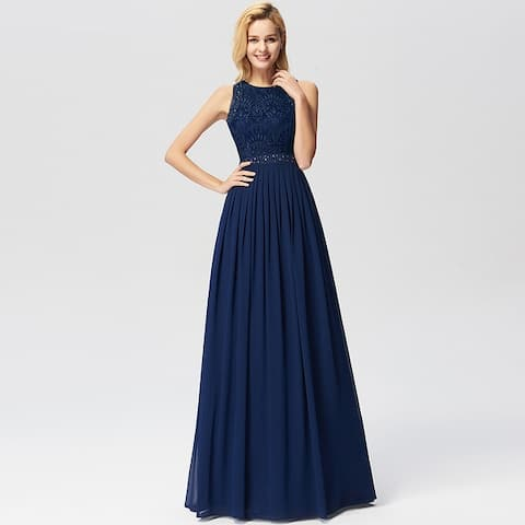 Ever-Pretty Women's Lace Long Formal Evening Bridesmaid Party Dress for Women 07391