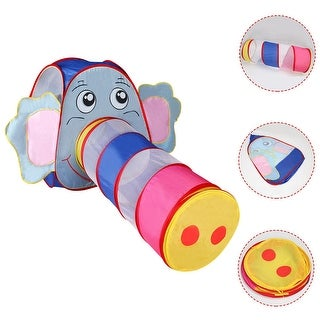 Costway Kids Baby Play Tent Elephant Tunnel In/Outdoor Portable Foldable Children Gift