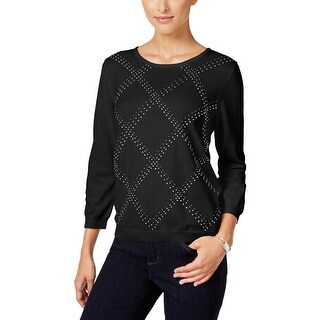 Alfred Dunner Womens Petites Sweater Embellished Long Sleeves - pl