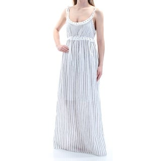 MAX STUDIO $118 Womens New 1077 White Striped Sleeveless Shift Dress XS B+B