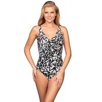 Miraclesuit Bold Print Oceanus One Piece Swimsuit - BLACK/WHITE