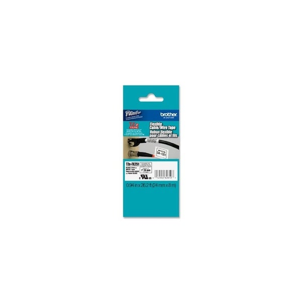 Brother KR1735W Brother Laminated Flexible ID Black on White 1 Inch Tape - Retail Packaging (TZeFX251) - Retail Packaging