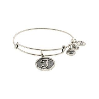 "Alex And Ani Women's Initial Bangle Bracelet - 9"" - Silver"