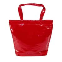 CTM® Women's Patent Tote Bag - One size