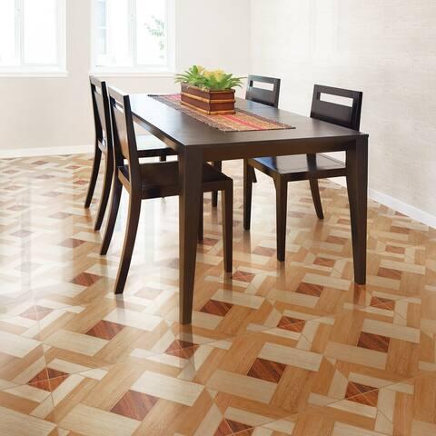"SomerTile Huelva 17.75"" x 17.75"" Caramelo Ceramic Floor and Wall Tile"