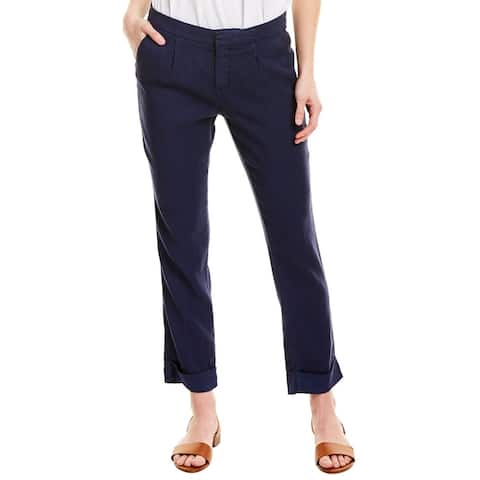 Nydj Everyday Pleated Peacoat Linen-Blend Ankle Trouser