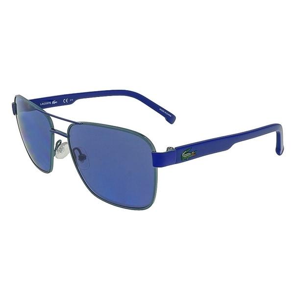 Lacoste L3105S 467 Azure Blue Aviator Sunglasses - 52-15-125