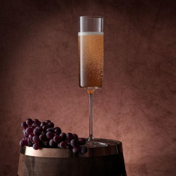 JoyJolt Claire European Crystal Champagne Glasses 5.7 oz Set of 2. Opens flyout.