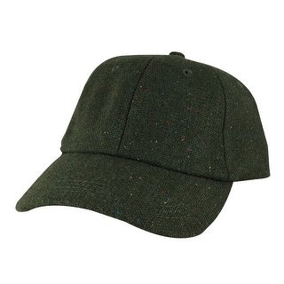 Wool Confetti Sparkle Unstructured Adjustable Strapback Dad Cap Hat by CapRobot - Army Green - Dark Green