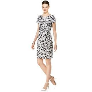 Tommy Hilfiger Floral Print Short Sleeve Sheath Dress - 12