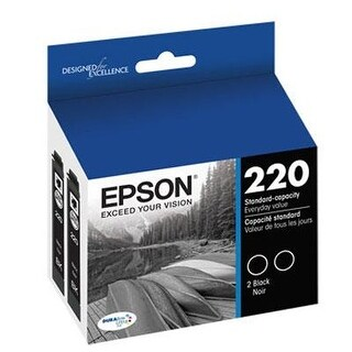 Epson T220120 Durabrite Ultra Black Standard Capacity Cartridge Ink (Wf-2760, Wf-2750, Wf-2660, Wf-2650, Wf-2630, Xp-424