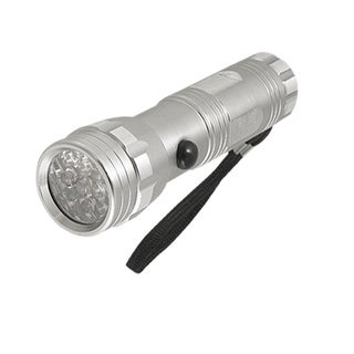 Unique Bargains Unique Bargains Nonslip Aluminum Shell 14 LEDs Mini Torch Silver Tone