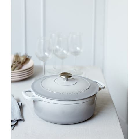 Chasseur French Enameled Cast Iron Round Dutch Oven, 6.25-quart
