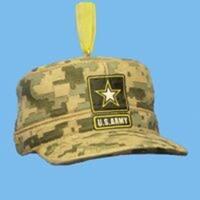 "Club Pack of 12 U.S. Army Combat Uniform Cap Christmas Ornaments 3"" - green"