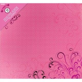 "Colorbok Post Bound Album 12""X12""-Pink Foil Flourish"