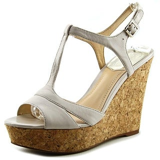 Vince Camuto Inslo 2 Open Toe Leather Wedge Sandal