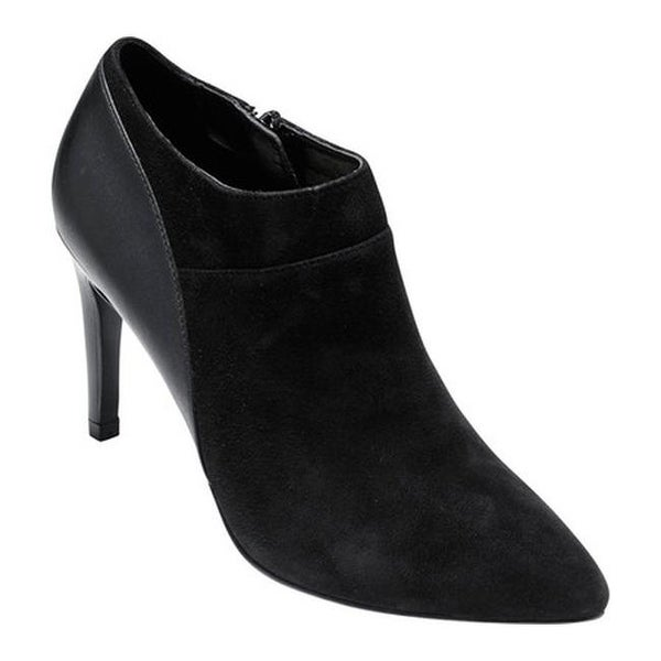 5748eb13e16 Cole Haan Women  x27 s Lattimore Shootie II Black Suede Black Leather