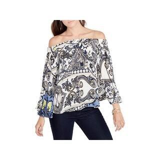 b6b30123c7c407 Rachel Rachel Roy Womens Pullover Top Cold Shoulder Printed · Quick View