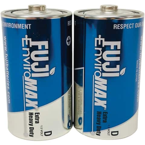 Fuji Batteries 3100BP2 EnviroMax D Extra Heavy-Duty Batteries, 2 pk