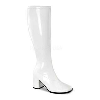 Funtasma Women's Gogo 300W White Stretch Patent