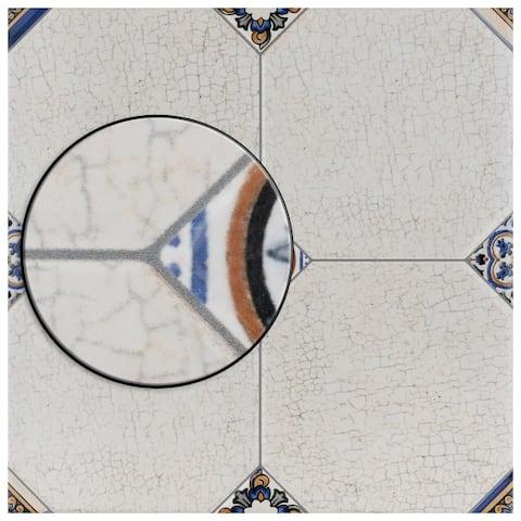 "SomerTile Manises Jet Blanco 13.13"" x 13.13"" Ceramic Floor and Wall Tile"