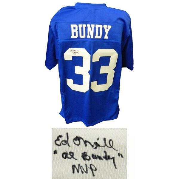 7969187ed Shop Ed ONeill Al Bundy 33 Polk High Blue Football Jersey wAl Bundy ...