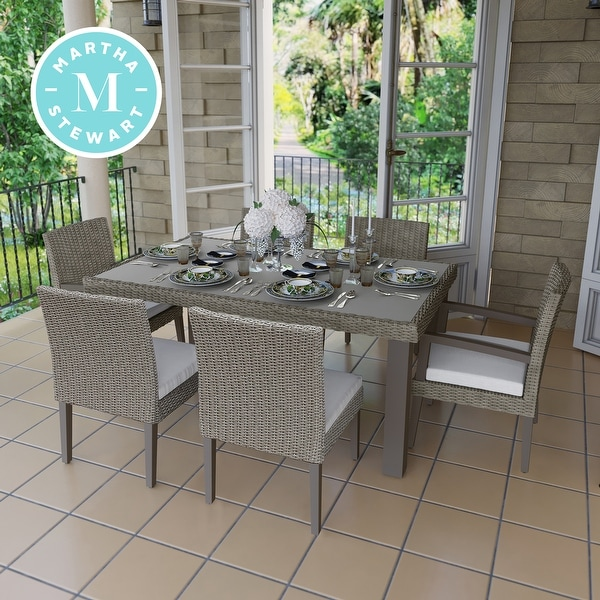 Shop Martha Stewart Oakland 7PC Aluminum Frame Rectangular ... on Martha Stewart 6 Piece Patio Set id=96605