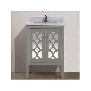 "Miseno MV-42818 Mare 24"" Free Standing Vanity with Vanity Top and Undermount Sin"